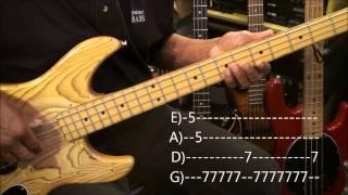 Vanilla Ice ICE ICE BABY Bass Guitar Lesson EricBlackmonMusicHD YouTube