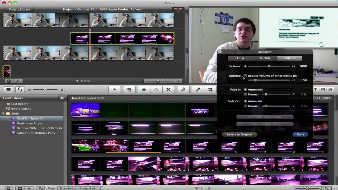 imovie how to add picture on audio