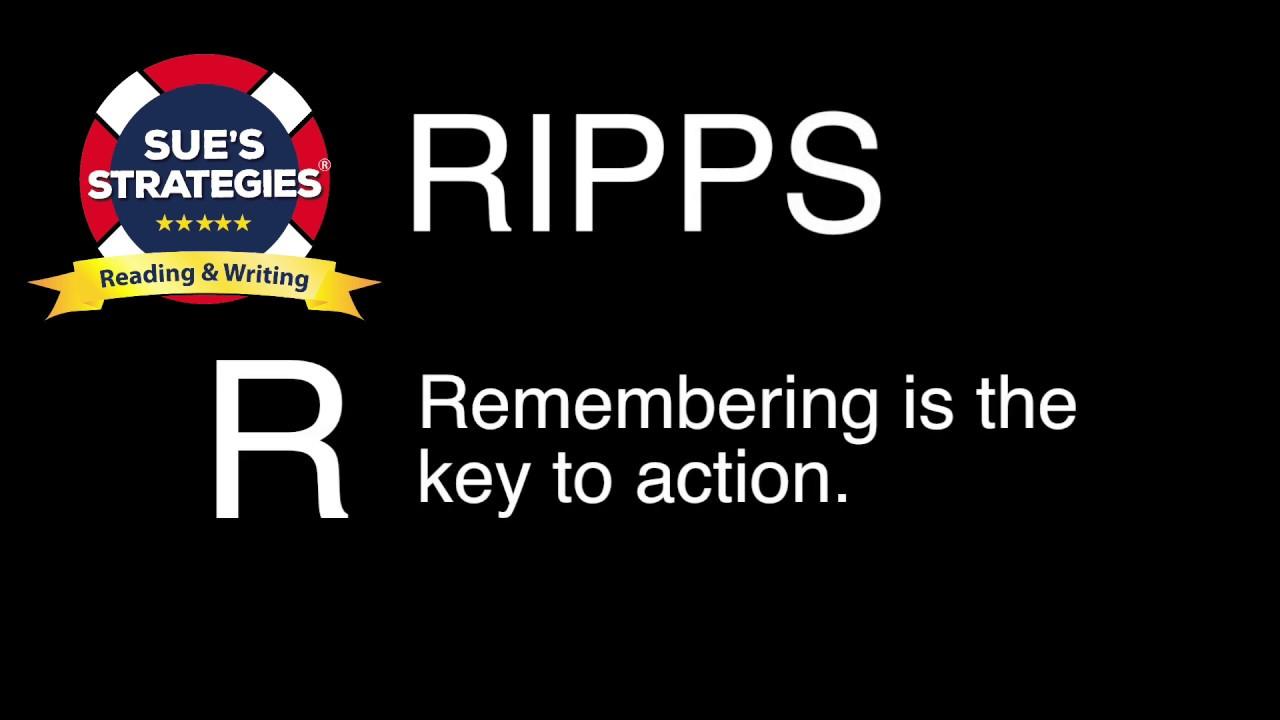Download Sue's Strategies RIPPS Method