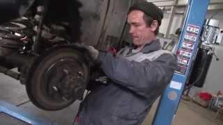 видео Fiat Doblo. Фиат Добло.  Колодки. Задний колесный барабанный тормоз. Rear wheel drum brake.
