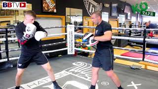 BACK IN THE RING! LUKE EVANS PAD WORK AHEAD OF SATURDAY RETURN