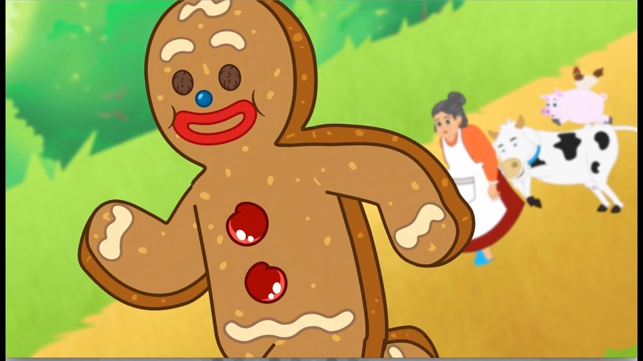 O Homem Biscoito De Gengibre Desenho Animado Infantil Com Os
