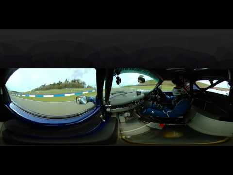 Awesome 360 views of Start of Lotus Elise Trophy Race- 10th to 1st in one lap