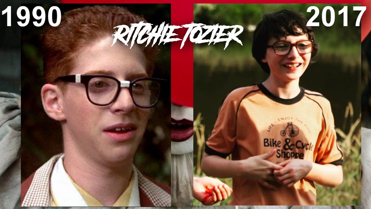 Image result for richie tozier 1990 and 2017