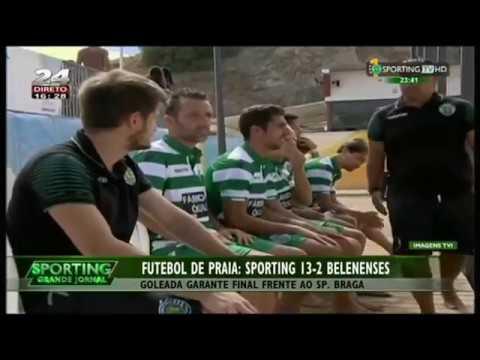 Futebol de Praia :: Sporting - 13 x Belenenses - 2 de 2015 1/2 Final da Divisão de Elite