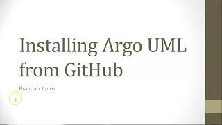 Install Argo UML From GitHub