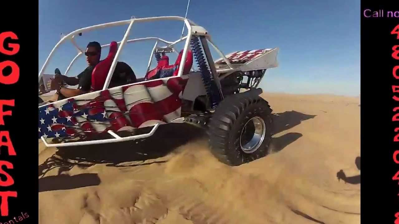 Glamis Sand Rail Doing Wheelies Also For Rent Jump