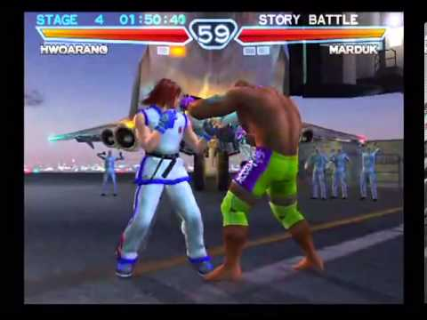 Tekken 4 Playstation 2 Story Battle As Hwoarang Youtube