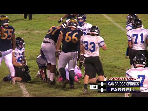 Cambridge Springs vs Farrell-High School Football