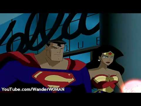 Wonder Woman fights Superman (Battle of the Sexes)