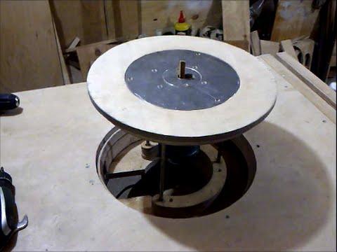 Необычное крепление фрезера в стол Unusual Mount The Router On A Table