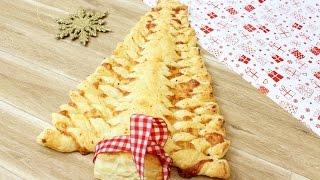 ALBERO DI NATALE al formaggio | ricetta veloce con pasta sfoglia | Christmas Tree Of Puff Pastry