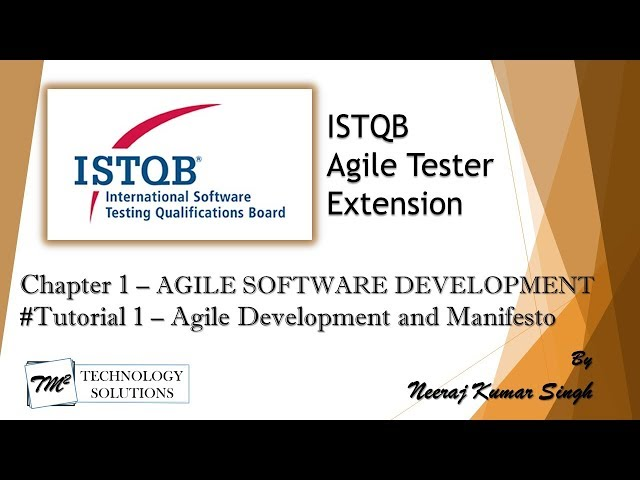 ISTQB Agile Tester Extension | 1.1.1 Agile Software Development and Agile Manifesto