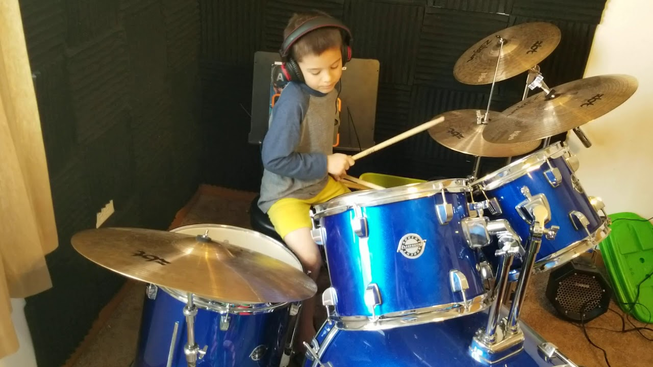 Aerosmith - Dream On [Drum Cover - 7 Yr Old Brayden Opiola]