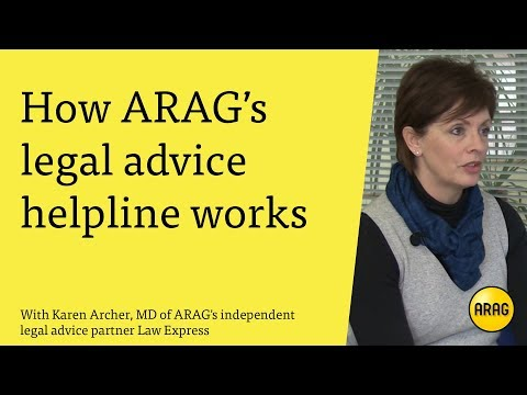 How ARAG's legal advice helpline works