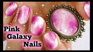 Pink Galaxy Nail Art Tutorial | Nails By Kizzy