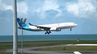 Garuda Indonesia A330-200 PK-GPK GA564 Landing in Sepinggan Airport, Balikpapan