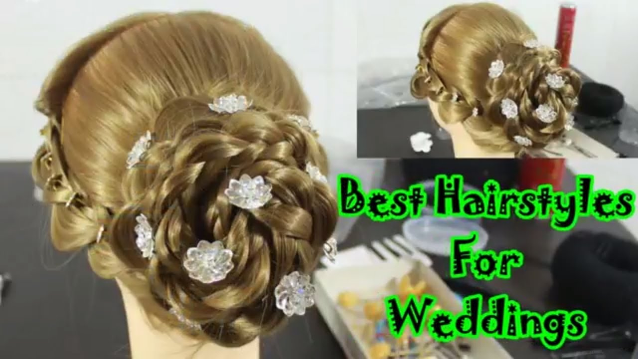 indian bridal hairstyle ! wedding hairstyles ! bridal juda ! party hairstyle ! step by step