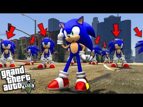 SONIC The HEDGEHOG Gets CLONED (GTA 5 Mods)