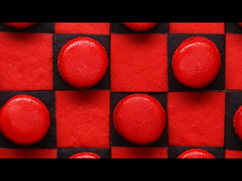 Edible Checkerboard Made With Macarons •Tasty