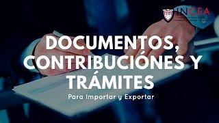Documentos, Contribuciones y Tramites | Exportacion e Importacion