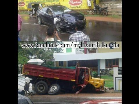 Kerala News Jaguar Tipper Truck Accident In Kerala Jaguar Vs