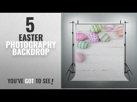Top 10 Easter Photography Backdrop [2018]: Maijoeyy 5x7ft Easter White Wall Photography Backdrop