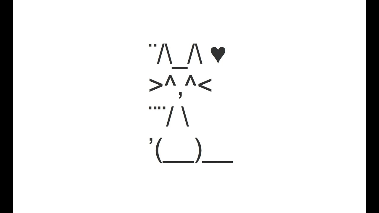 cute cat picture copy and paste text art youtube