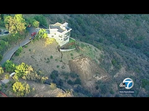 Ground crumbles around Malibu home amid active landslide | ABC7
