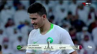 ملخص مباراة السعودية وقطر HD خليل البلوشي