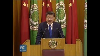 president xi jinping delivers speech at arab league headquarters english version