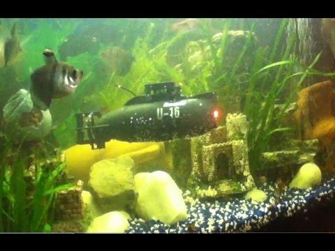 Graupner U-16 Mini RC Submarine in the Aquarium U-Boot