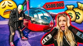 I BOUGHT A HELICOPTER FOR MY GIRLFRIEND!! *BLINDFOLDED*