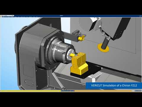 Chiron Machine Tool CNC Simulation with VERICUT