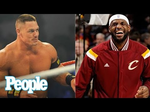 John Cena challenges LeBron James, plans to dribble the King's face | People NOW | People