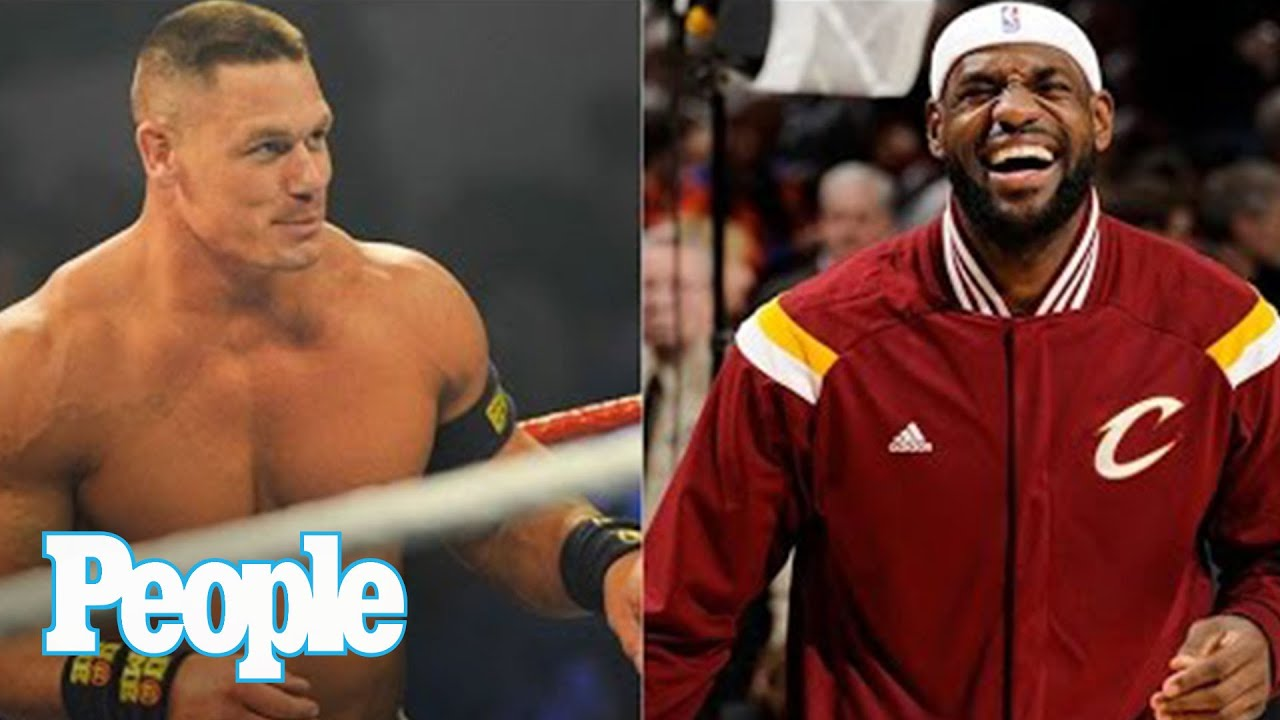 maxresdefault john cena challenges lebron james, plans to dribble the king's face