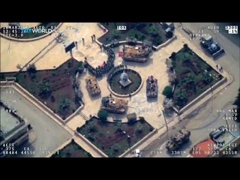 شاهد: طائرة بدون طيار ترصد القوات التركية وهي تشكل هلالا في عفرين  - نشر قبل 9 دقيقة
