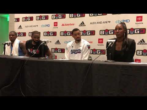 BIG 3 — TRIPLETS Press Conference   51-45 WIN   Atlanta   7/7/19