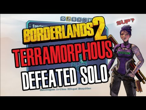 Borderlands 2 PC Terramorphous defeated Solo with Siren