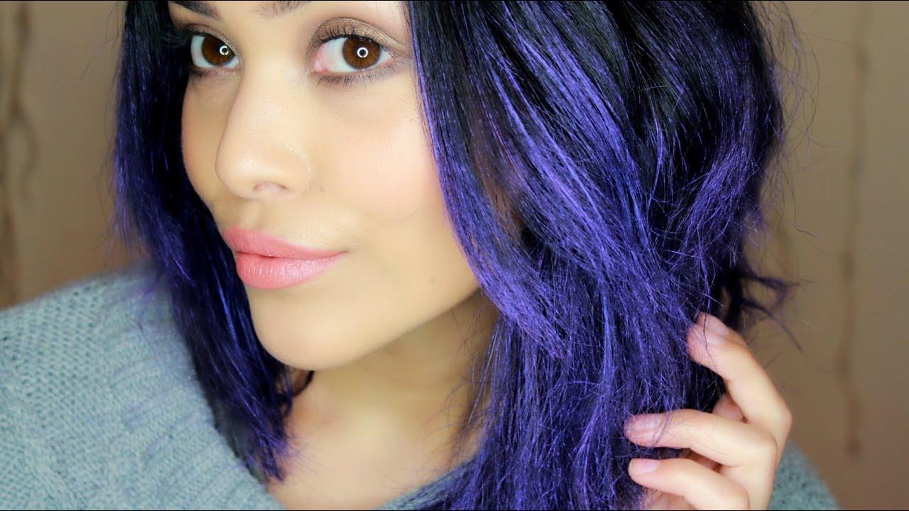 Prueba de producto, cabello morado en minutos??? Color Styler de Garnier ||| Lilia Cortés - YouTube