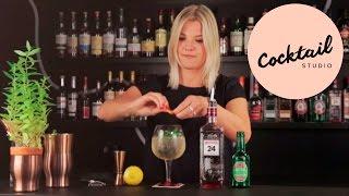 En eksklusiv og sofistikeret opskrift på en drink med gin.