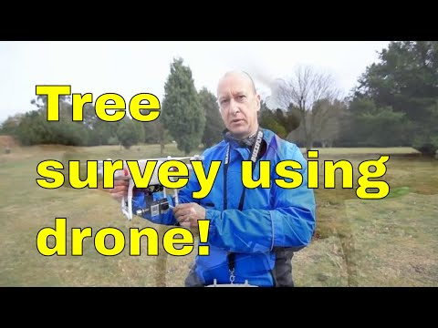 Tree surveying using drone! @ The Yorkshire Arboretum.