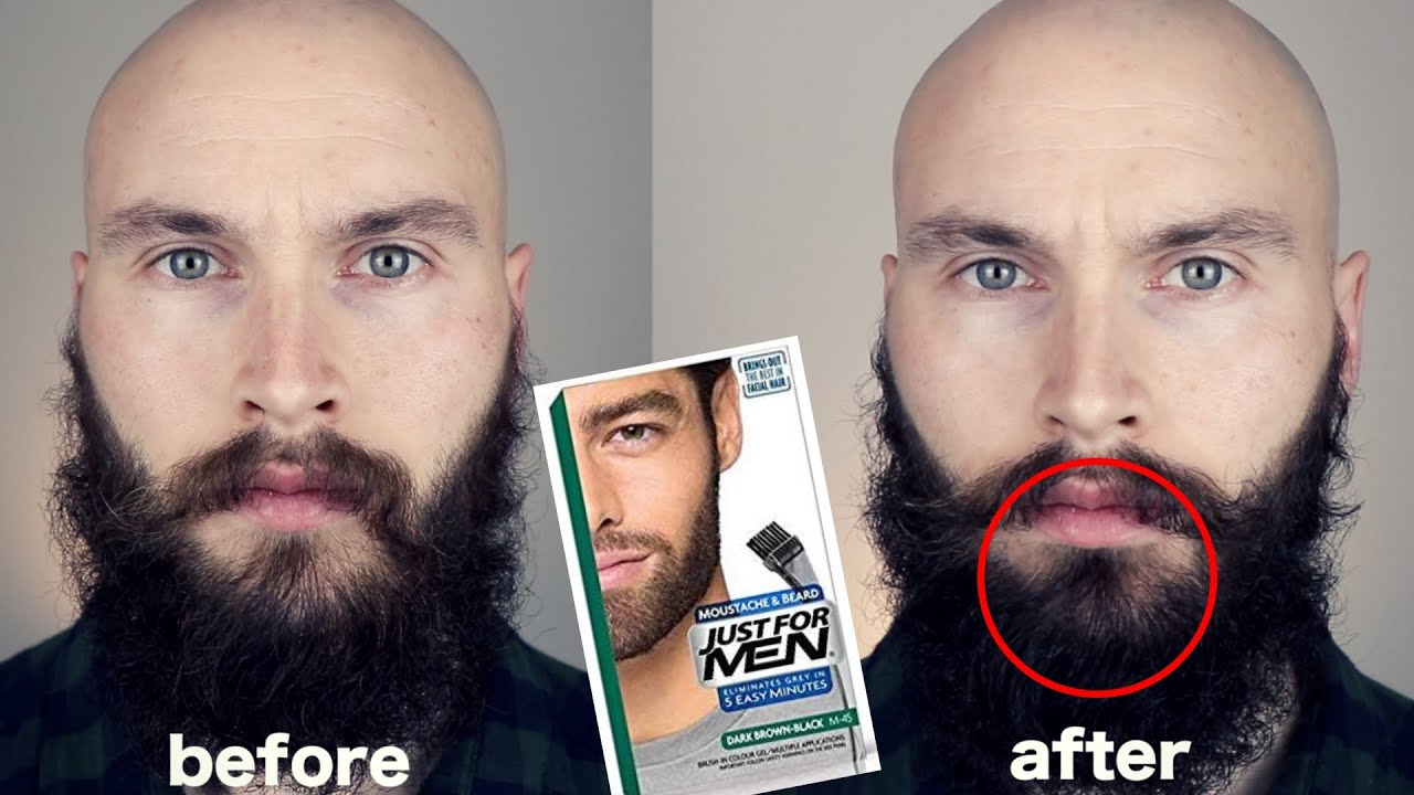 JUST FOR MEN BEARD DYE - BEFORE / AFTER *Dark brown/black