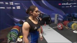 2016 European Weightlifting Women