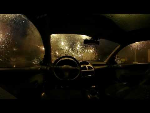 Rain on a Car at Night with Wind and Soothing Sounds for Rel