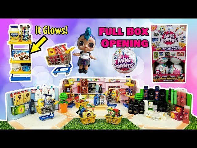 Opening A Full Box Of 5 Surprise Mini Brands Rare Glow In The Dark