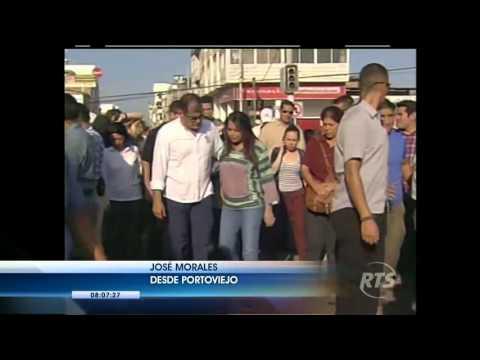 Presidente Rafael Correa hace un recorrido en Portoviejo