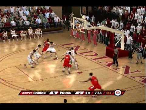 NCAA Basketball 10 Gameplay (PS3) - Ohio State At Indiana U