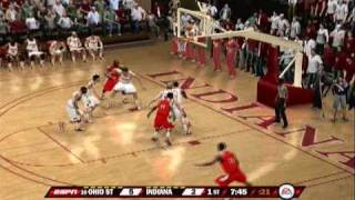 NCAA Basketball 10 Gameplay (PS3) - Ohio State at Indiana U