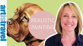 How to create a REALISTIC painting of your own pet with Jo Pickering | Deutsche Untertitel